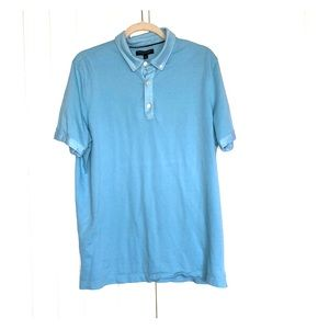 Men's banana republic light blue polo shirt